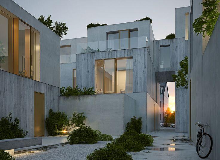 Wohnen am Strom, Wettbewerb 1.Preis | Michels Architekturbüro