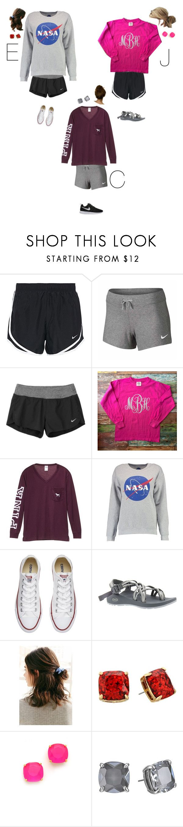 """""""Soup's On - pizza roll party 📚"""" by thekaileea ❤ liked on Polyvore featuring NIKE, Victoria's Secret PINK, Boohoo, Converse, Chaco, Urban Outfitters and Kate Spade"""