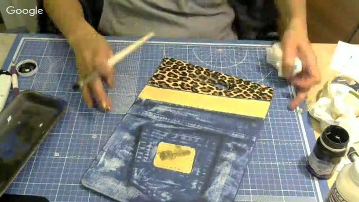 3-й день конференции «Альтернативный декупаж» Ольга Ерохина Имитация джинсовой ткани