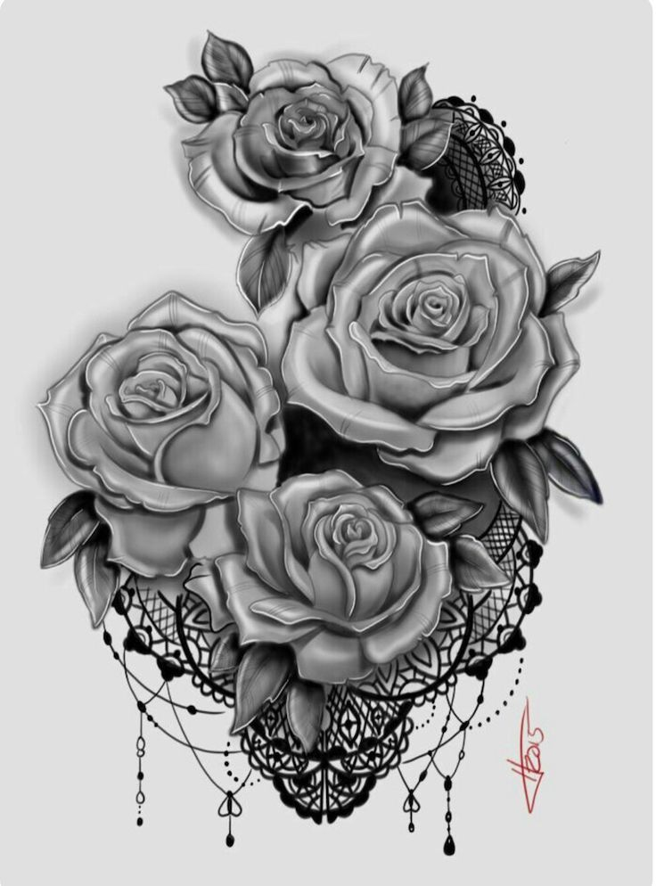 Dessin Tatouage Roses Dentelle Mandala Pinterest Tattoo And Tatoo