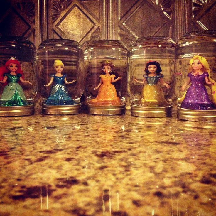 Homemade Disney Princess Snow Globes Things You Need