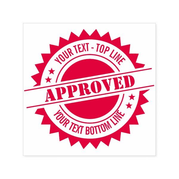 Seal Of Approval Or Other Seal Self Inking Stamp Zazzle Com In 2021 Self Inking Stamps Stamp Seal Stamps