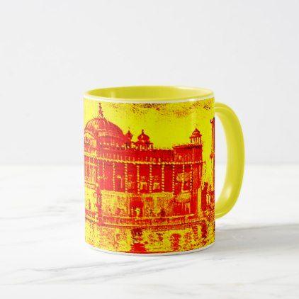 #Kaur - Sikh Historic Art #6 - yellow Mug - #drinkware #cool #special