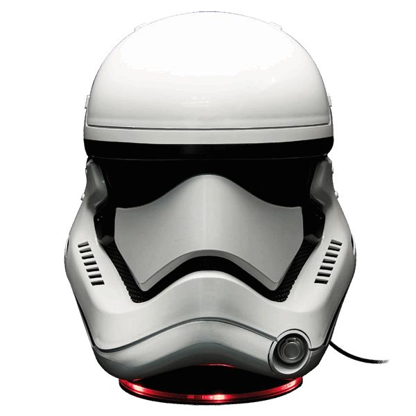 With this Stormtrooper Mask bluetooth speaker, the Imperial March never sounded so good! Features: LED Light-up base (LED colour: red) Powerful subwoofer for deep, rich bass audio 15W (RMS) + 3W (RMS) x 2 of premium sound for home and open areas Play audio from 3.5mm audio source or wirelessly from Bluetooth® capable devices USB power output port charge up to most smart phones, tablets & usb enable devices Connector Type: Bluetooth® / ...