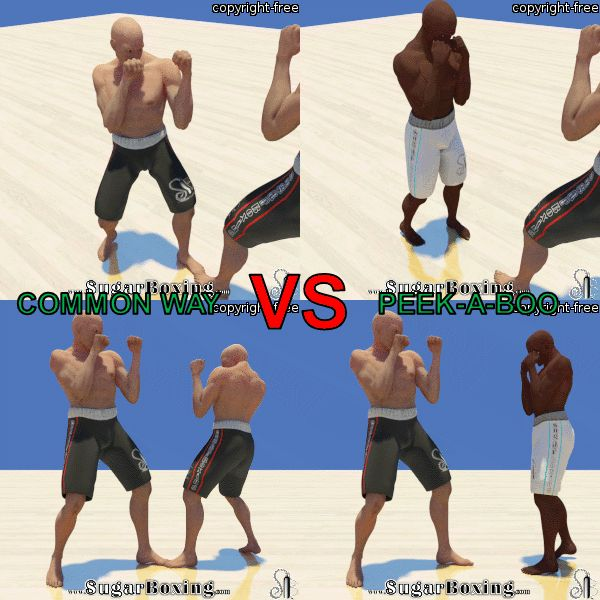 Slip The Straight Right Hand Second Way Common Way Vs Peekaboo Boxing Techniques Martial Arts Boxing Martial Arts
