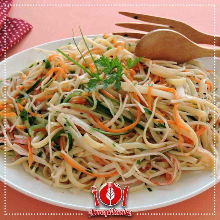 Salada de Linguini com Kani-Kama e Palmito                                                                                                                                                                                 Mais
