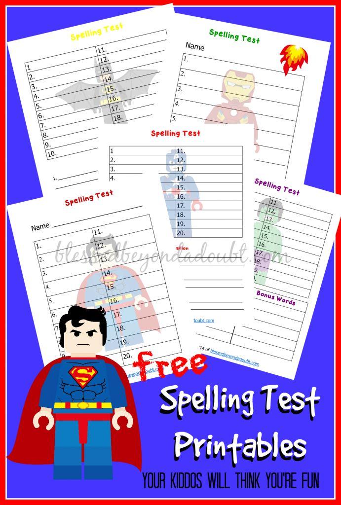 Best  Spelling Test Ideas On   Spelling Homework