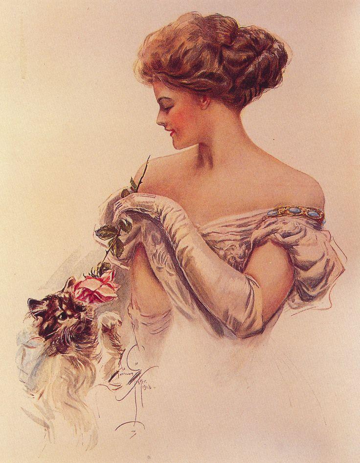 Надписью красивая, винтажные открытки женщины