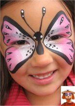 Step by Step Facepainting. Butterfly, dragon, flames, leopard and much more