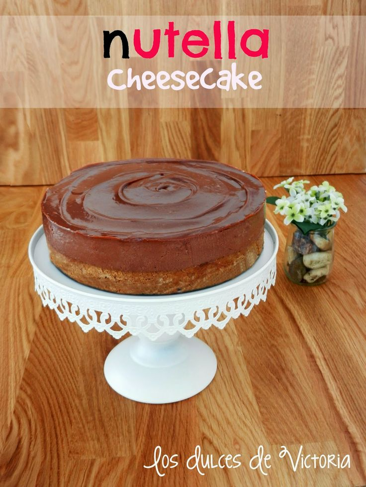 Nutella Cheesecake o Tarta de Queso de Nutella {Sin horno}