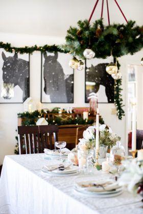 Winter Wonderland Christmas Dining Room Decor