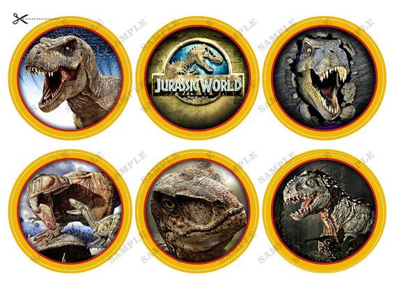 INSTANT DOWNLOAD Jurassic World Cupcake topper by BogdanDesign