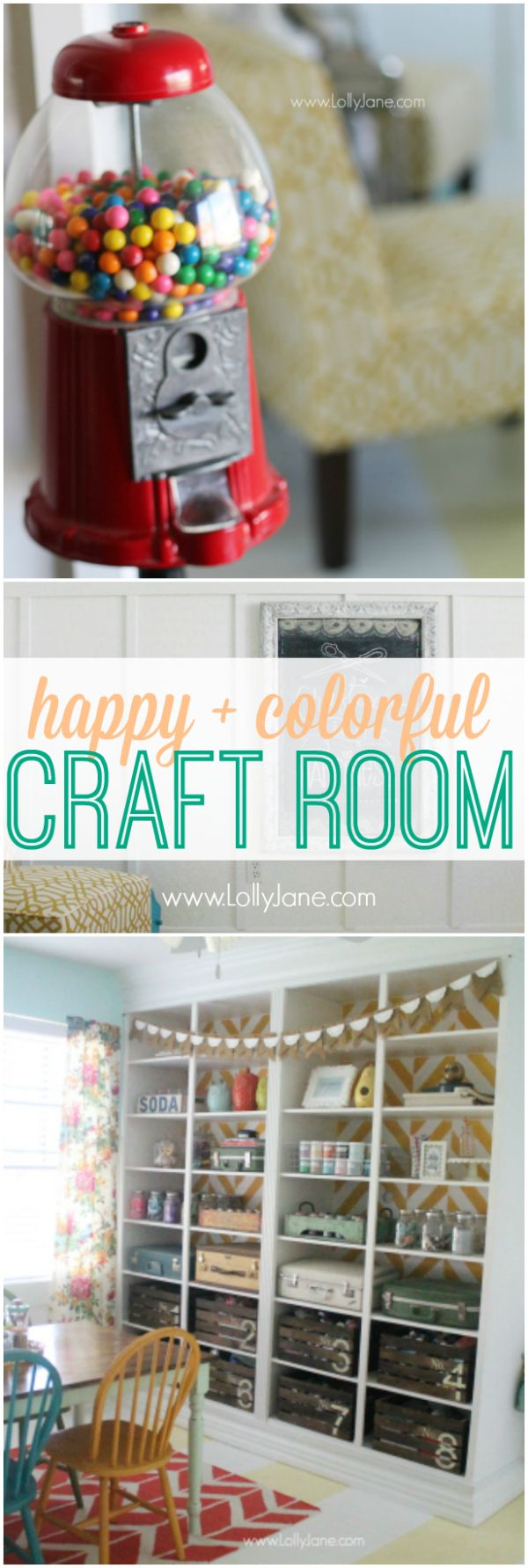 Happy colorful craft room, lots of pics!