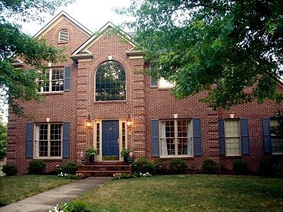 17 best ideas about brown brick houses on pinterest outdoor window shutters house shutters - Best Exterior Paint Colors With Brick