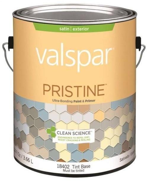 Valspar 18402 Pristine Exterior Paint & Primer, Gallon