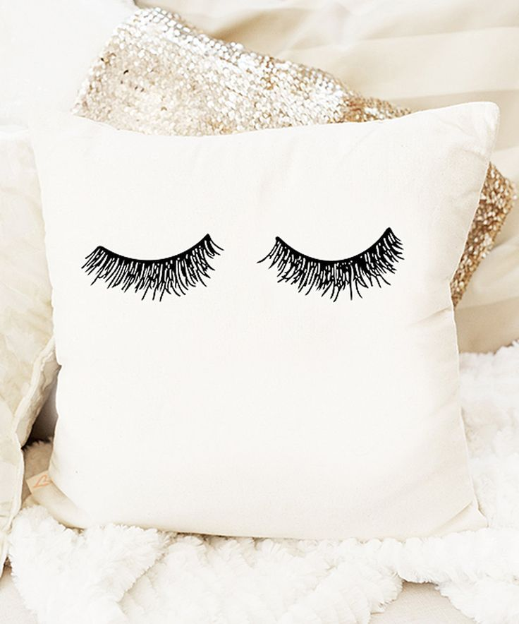 Take a look at this Eyelashes Canvas Throw Pillow today!