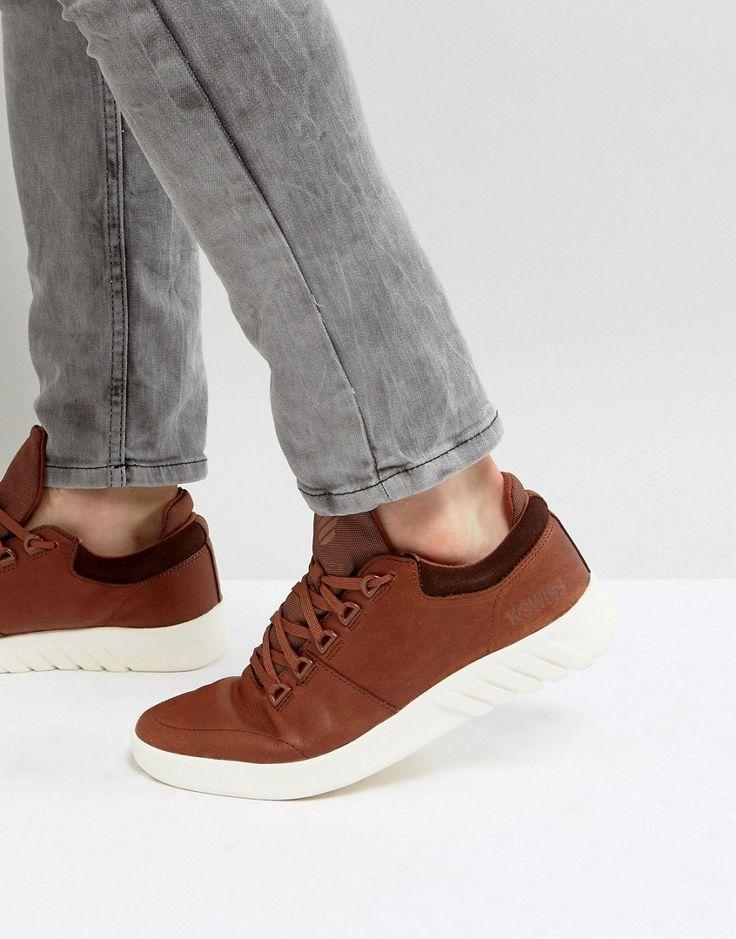 K-SWISS AERO SNEAKERS IN BROWN - BROWN. #k-swiss #shoes #