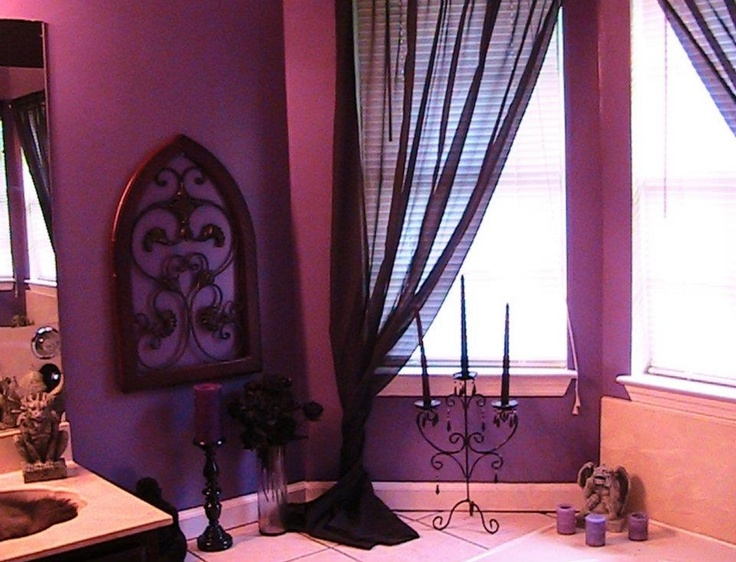 1165 Best Images About For The Home On Pinterest Baroque Black Roses And Gothic Home Decor: purple and black bathroom ideas