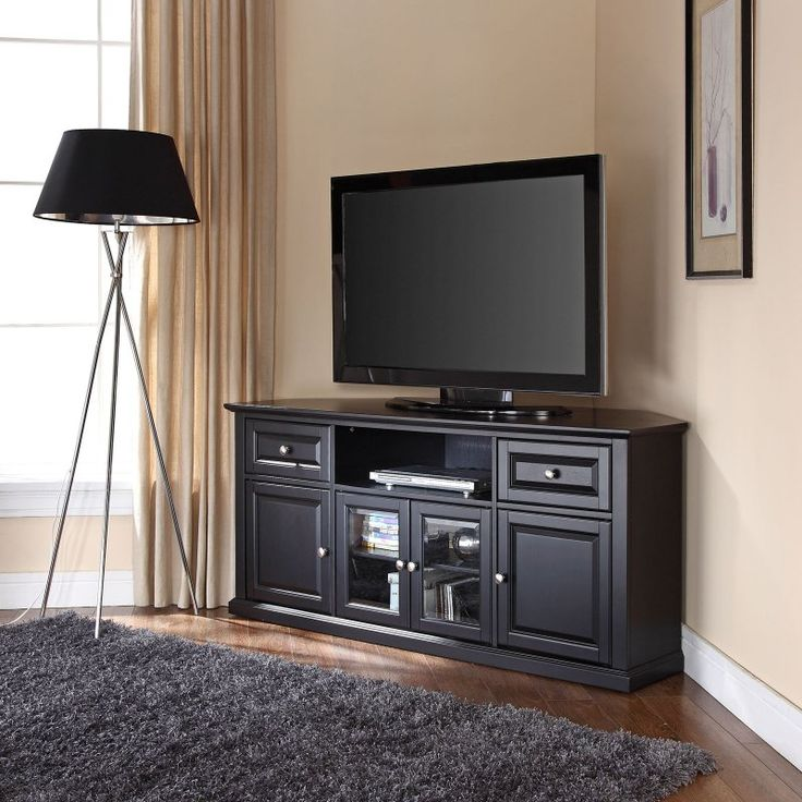 Crosley 60 In. Corner TV Stand   The Crosley 60 In. Corner TV Stand Is  Designed To Fit Snugly In The Corner Of Your Living Room, Bedroom, Or Den  To Make The ...