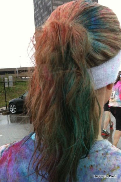 Color Run...the fun of getting the color out of your hair.
