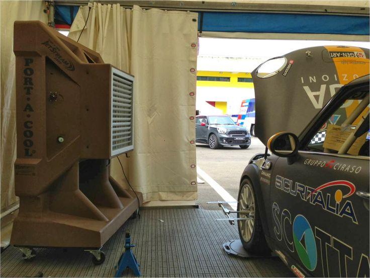 Enfriador Evaporativo - Port-A-Cool: Climatización Pit Box MiniChallenge Italia