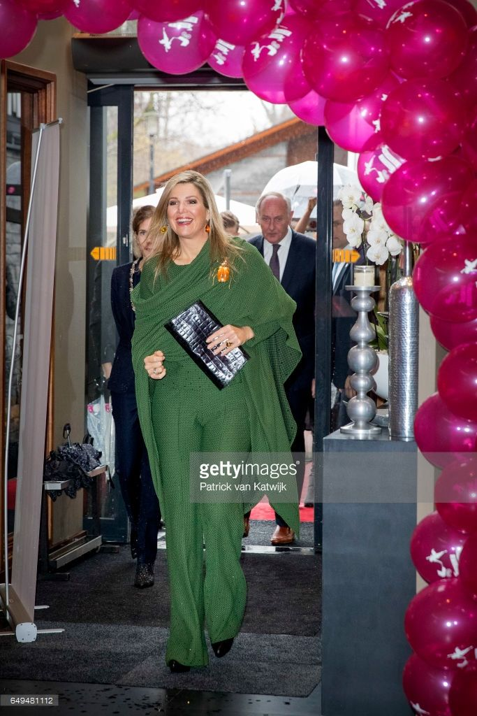 Queen Maxima of The Netherlands attends a meeting at Foundation Single Supermom on International Women's Day on March 8, 2017 in Amsterdam, Netherlands. The Single SuperMom Foundation provides national and international support to young single mothers and their children. (Photo by Patrick van Katwijk/Getty Images)