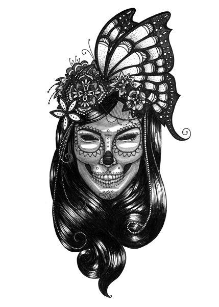 Mexican skull. masks series https://www.behance.net/eivanafer51df