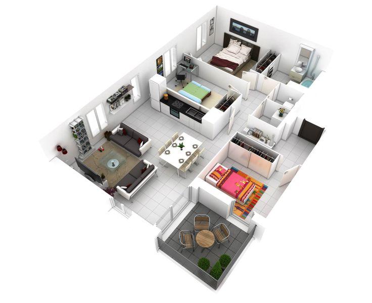 3 Bedroom House Designs 3d   josephbounassar comEmejing Simple Home Plan 3d Gallery   Best image 3D home interior  . 3 Bedroom House Designs 3d. Home Design Ideas