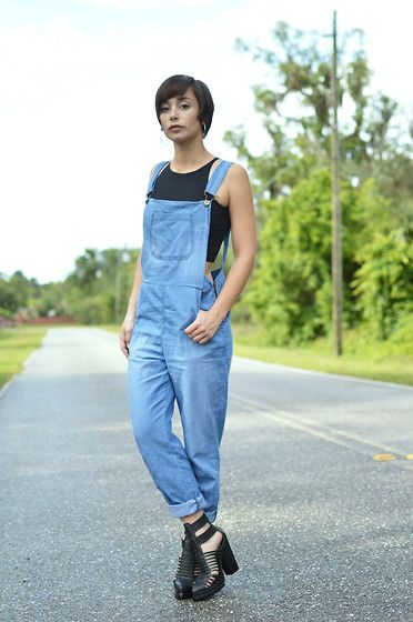 Jeffrey Campbell Cantu Boot, Boohoo Overalls, American Apparel Crop Top