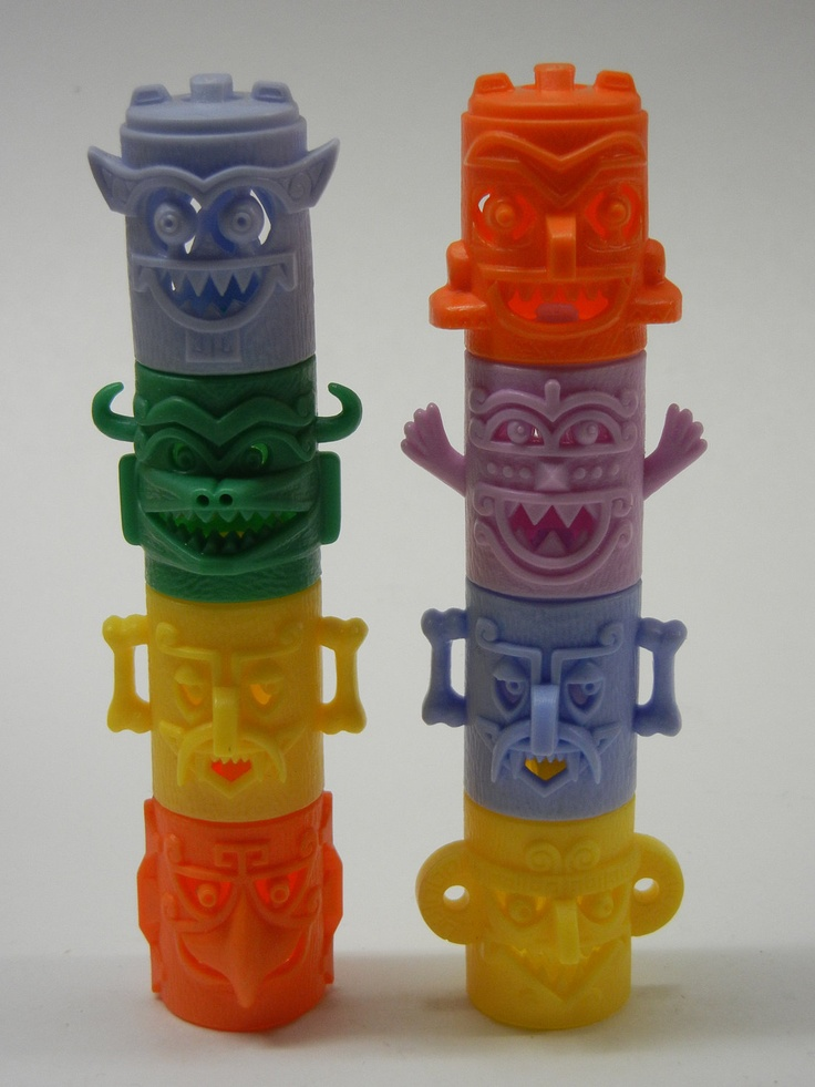 Vintage Kellogg's R and L Cereal Premium Totem Tribe