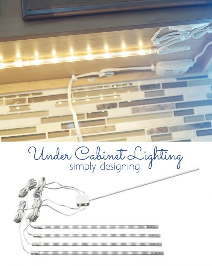 DIY Under Cabinet Lighting by Simply Designing