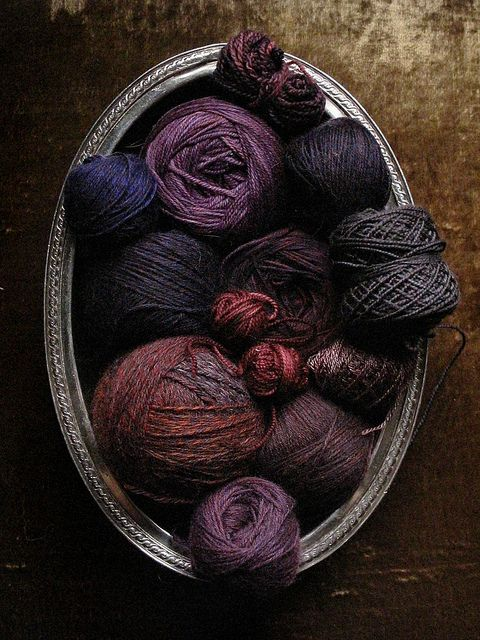 plums - yarn - textiles - knitting - crochet