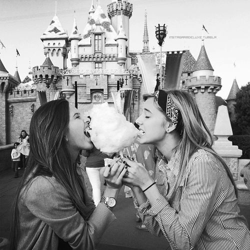 Sharing a cotton candy with the best friend at the happiest place on earth.  Love this!