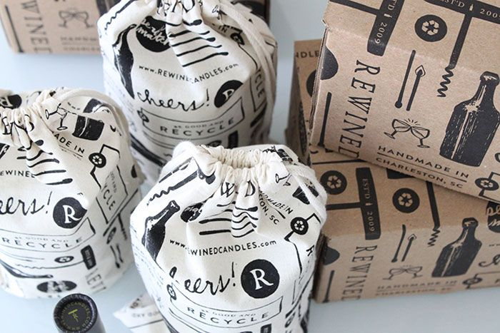 Rewind Candles packaging design by Stitch Design Co.