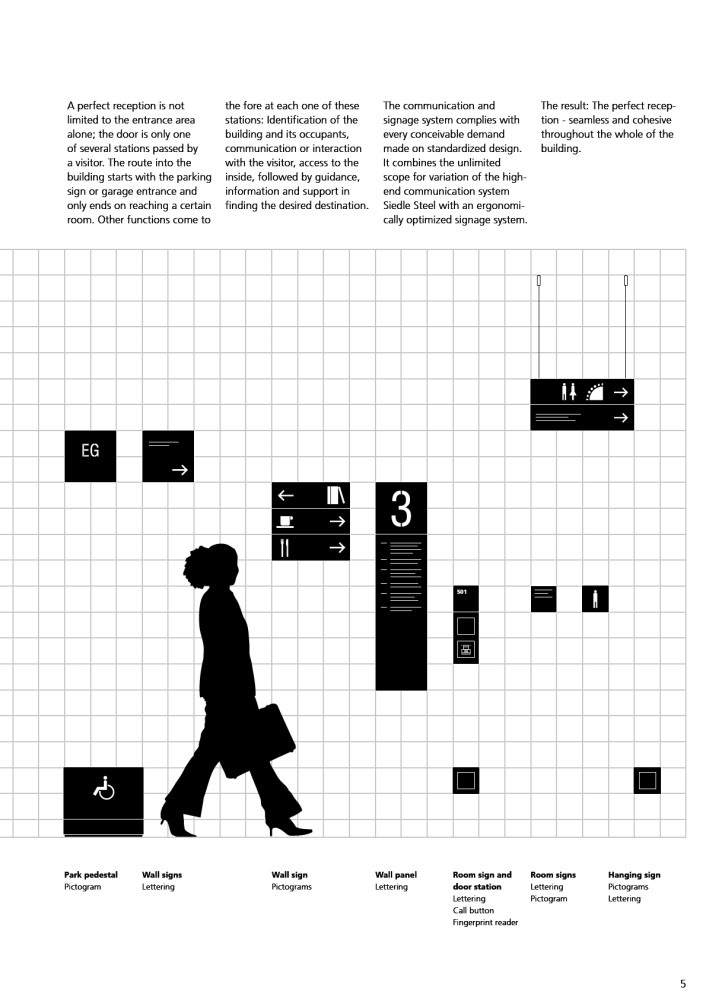 Outside and Inside - Communication and signage system 2009 - SSS SIEDLE - (Version JPG) - Page n° 7 - PDF Catalogues | Documentation | Brochures
