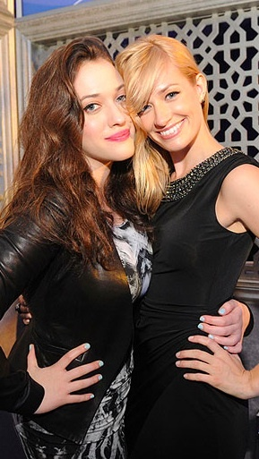 "Kat Dennings & Beth Behrs, I love them they are hilarious in one of my fave shows ""2 Broke Girls"""