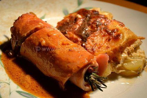 Jambon Rôti à l'Os Sauce Madère & Gratin de Pommes de Terre © Ana Luthi Tous droits réservés 033 http://www.l-eaualabouche.com/article-jambon-roti-a-l-os-sauce-madere-gratin-de-pommes-de-terre-122472498.html