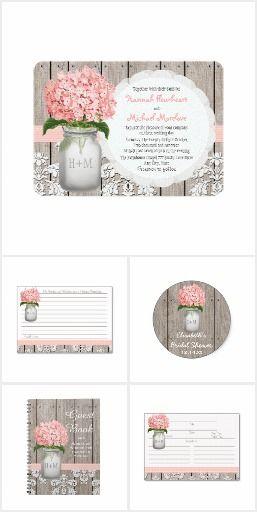 Pink Hydrangea Mason Jar Wedding Collection