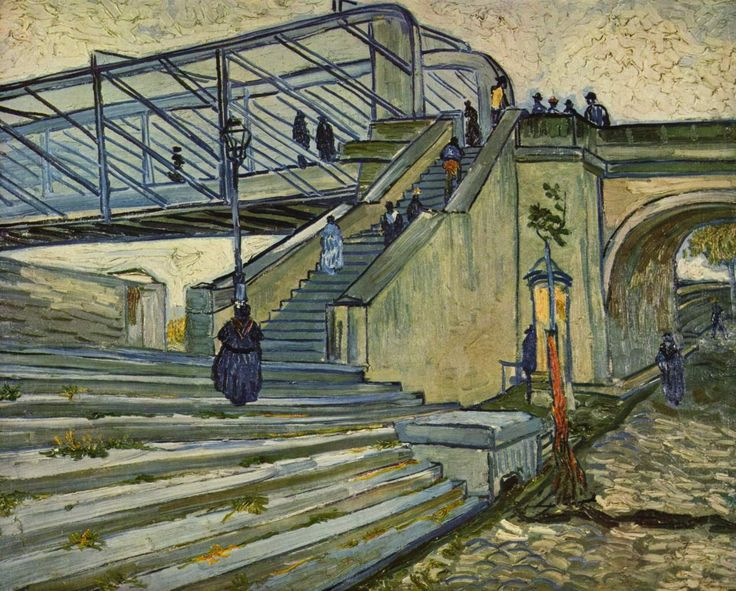 """Vincent van Gogh:  """"Le pont de Trinquetaille"""" (1880, Arles)"""