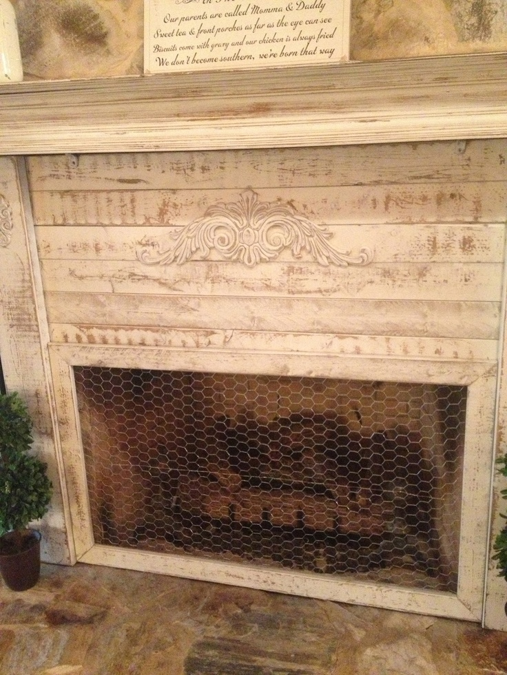 Shabby Chic Fireplace Screen: Southern Priss Designs
