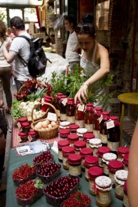 """Szimpla Kert Farmer's Market - on every Sundays, it is a real treat to come here and enjoy the warm atmosphere and the great produces of the Hungarian farmers. Don't miss it, the famous """"Ruin Bar"""" of the Budapest nightlife will show you another side of it."""