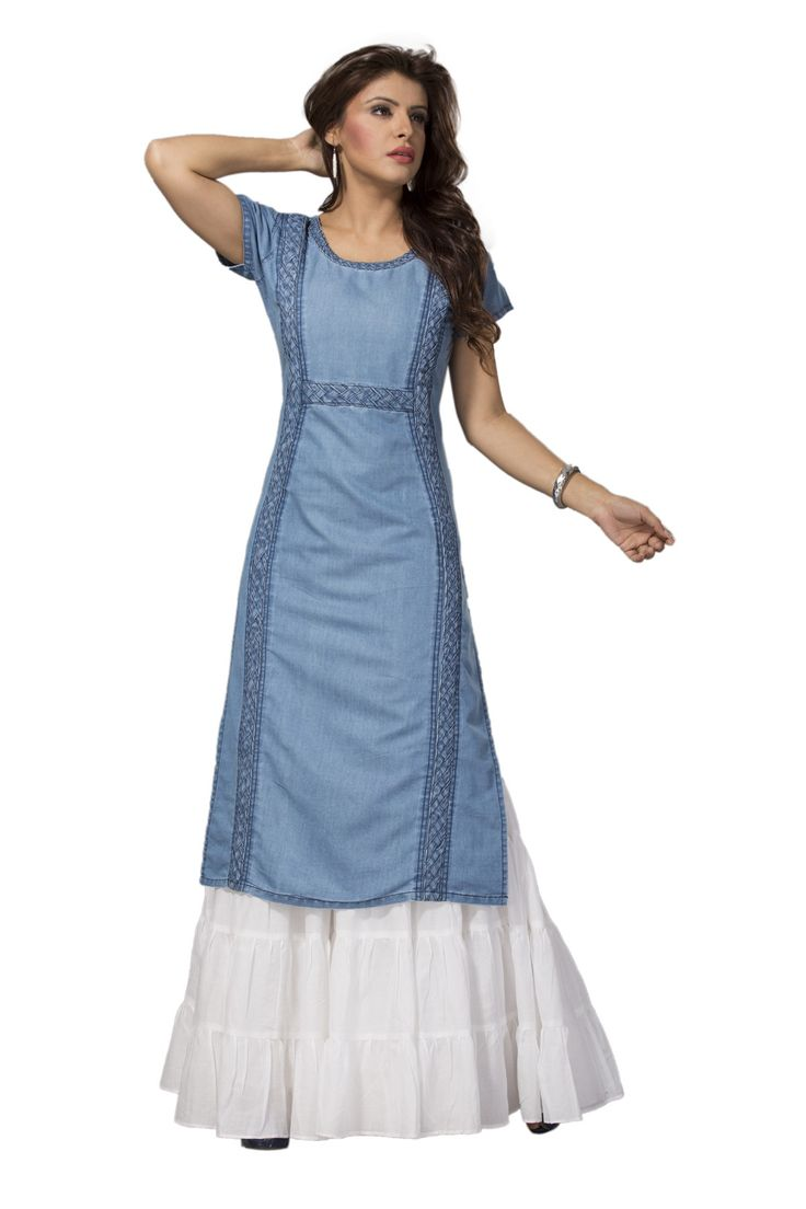 denim fashion kurti