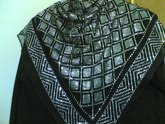 Handmade triangular scarf from Assyut