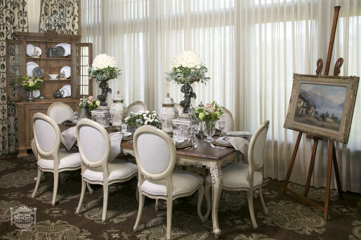 1000 ideas about antique dining rooms on pinterest for Dining room tablescapes ideas