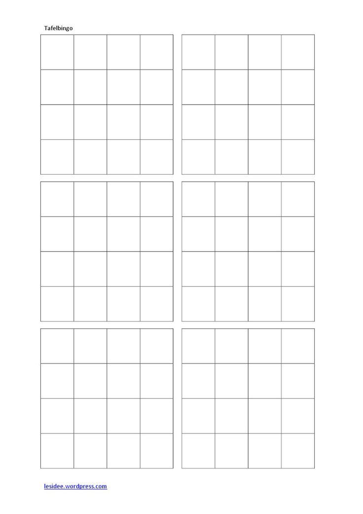 Tafelbingo-antwoordkaarten