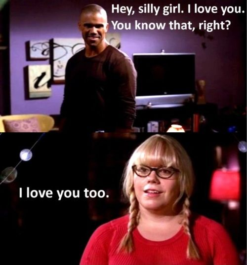 Derek Morgan and Penelope Garcia, I love their relationship