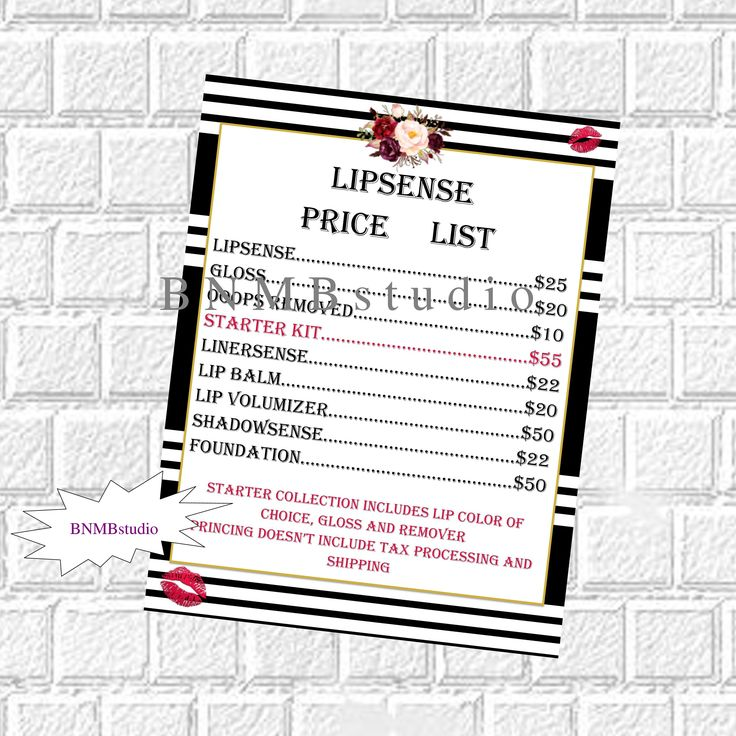 The 25+ best Lipsense pricing ideas on Pinterest Lip sense, Lip - price list format