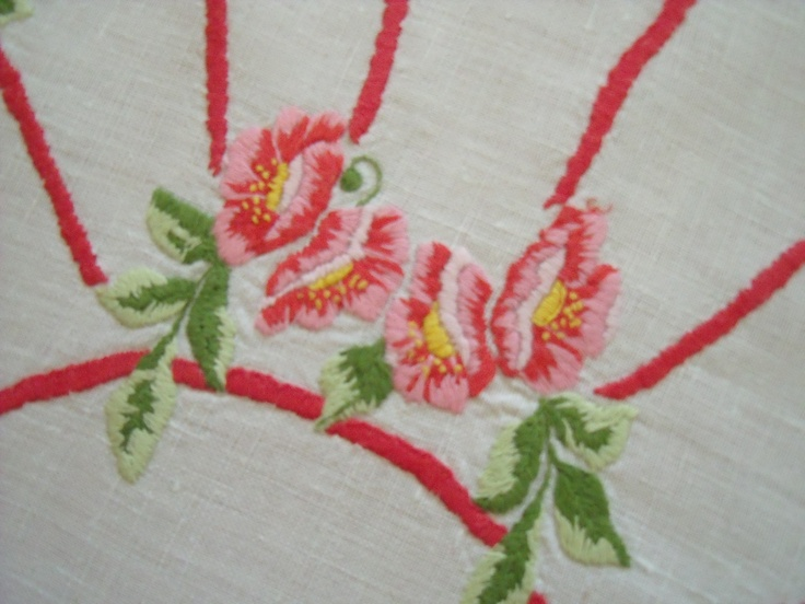 embroidery - roses