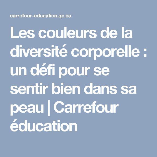 Les couleurs de la diversité corporelle : un défi pour se sentir bien dans sa peau | Carrefour éducation