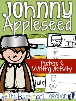 {Johnny Appleseed} Explore Johnny Appleseed vocabulary with these colorful posters. A corresponding writing activity is included too! $